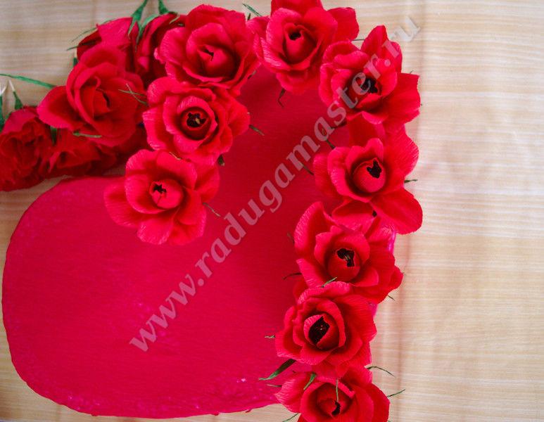 Букет из роз сердце своими руками