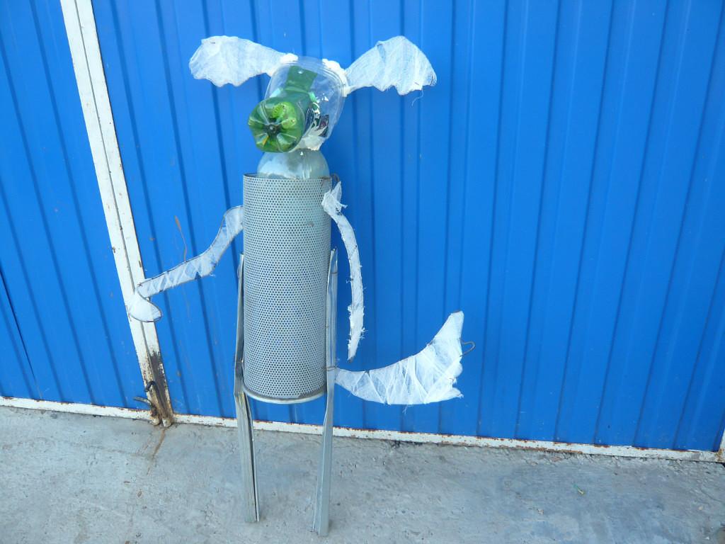 Фигуры для сада из пластиковых бутылок своими руками