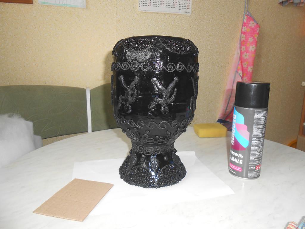 ваза из папье — маше,мастер класс,мк,ваза своими руками,декорирование вазы, ваза для цветов,ваза декорируемая крупой, ваза декоративная, ваза, декор,папье-маше