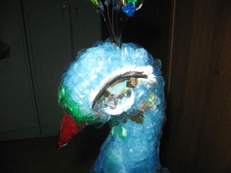 павлин из пластиковых бутылок, мастер класс, мк, птицы из пластиковых бутылок, пошаговое фото, обустройство приусадебного участка, садовые фигуры.своими руками.поделки из пластиковых бутылок, хвост павлина, декорирование дачного участка
