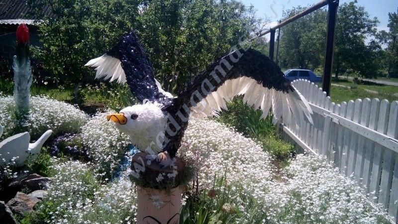 орел,из пластиковых бутылок,птицы,мастер класс,своими руками,поделки,мк,пластиковые бутылки,пластиковая тара,поделка сад,для дачи,красивые птицы,бутылка,делаем сами,радуга мастерства