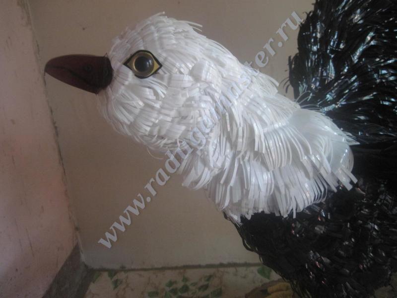 орел, из пластиковых бутылок, птицы, мастер класс, своими руками, поделки, мк, пластиковые бутылки, пластиковая тара, поделка сад, для дачи, красивые птицы, бутылка, делаем сами, радуга мастерства