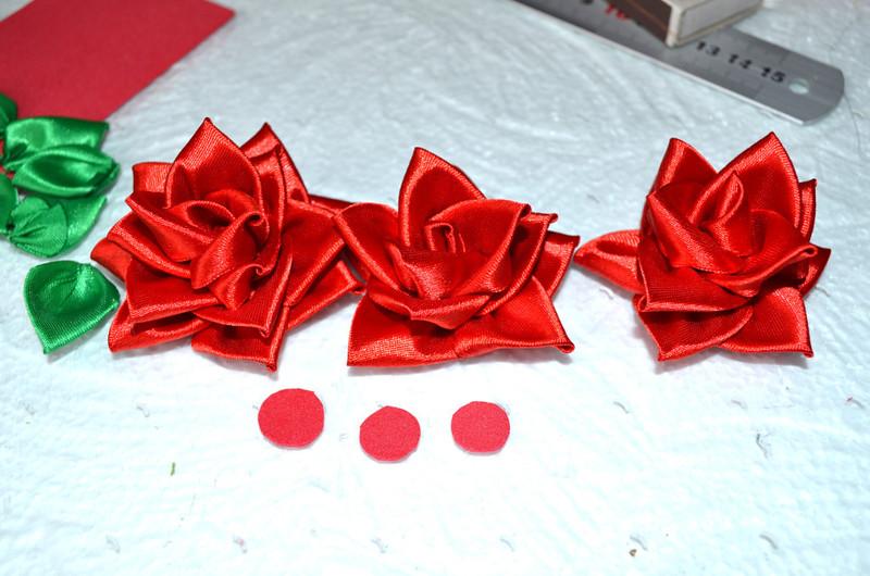 Мастер класс цветы из атласных лент для ободка