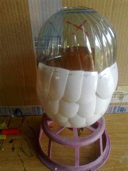 Попугай из пластиковых бутылок своими руками инструкция