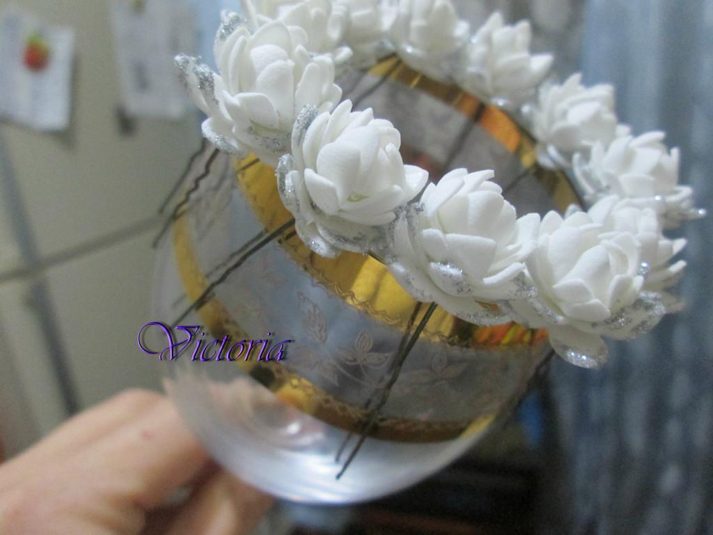 76e280014023 цветы из фоамирана, мастер класс, мини цветы из фома, мк, украшения для