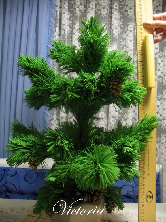 Большая елка своими руками мастер класс с
