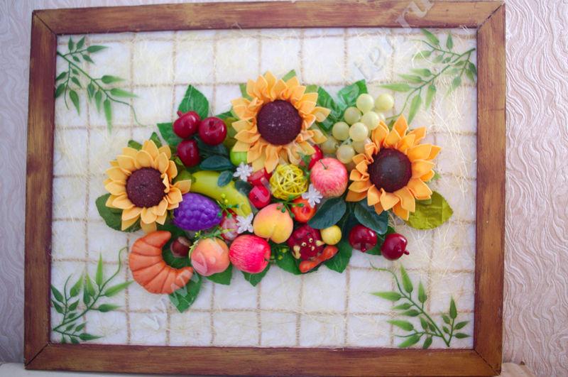 картина подсолнухи, картина с подсолнухами мастер класс, панно из фруктов, панно из фруктов своими руками, мастер класс, панно на кухню, панно из фруктов и цветов, своими руками, фруктовое панно, картина цветы фрукты, из искусственных цветов и фруктов, радуга мастерства, сделать панно, панно картинка, красивое панно, декор панно, панно подсолнухи, картина из подсолнухов и фруктов, картина для кухни, в стиле, прованс, кантри, фото, объёмная картина
