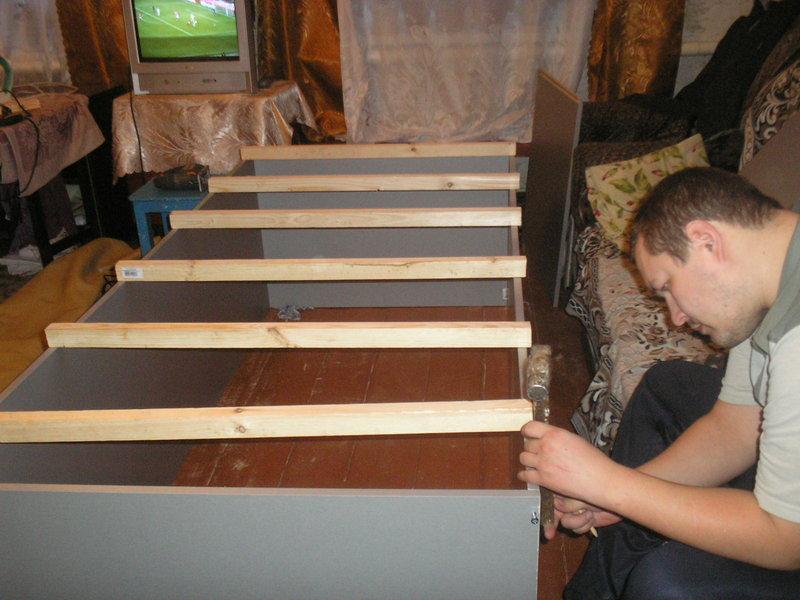 кровать машина своими руками,мебель детская своими руками,деская кровать в виде машины,мастер класс,пошаговое фото