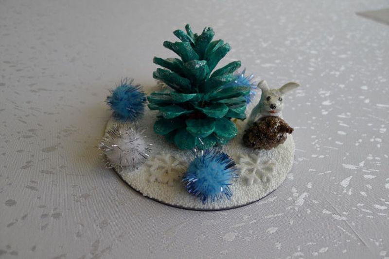 Детские новогодние поделки из природного материала фото