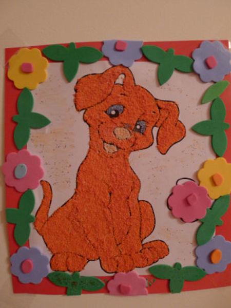 Картина из пластилина на картоне 60